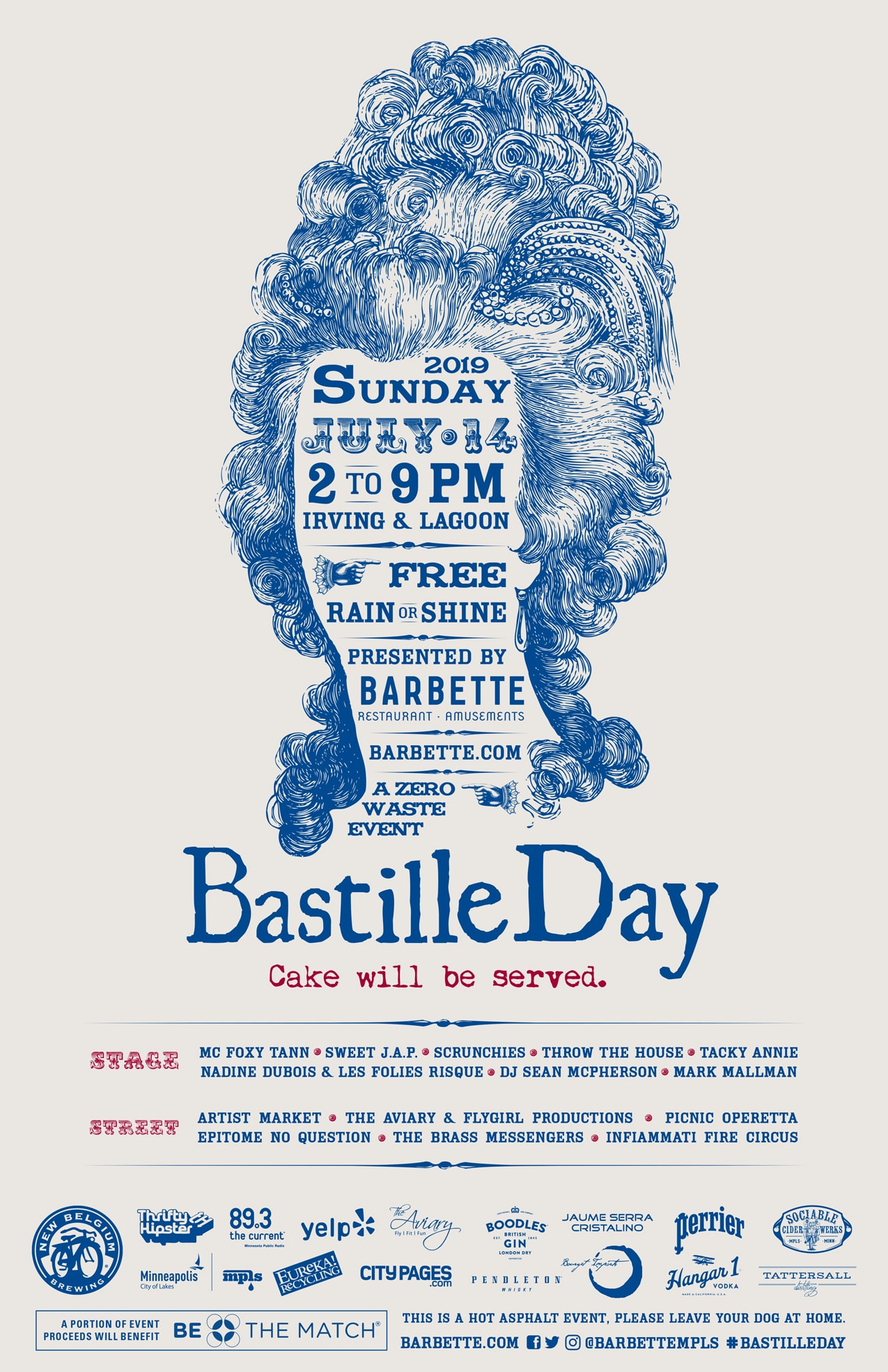 Join us on July 14th, 2019 for the Bastille Day Block Party in Minneapolis, MN. Sponsored by Barbette, enjoy performances from MC Foxy Tann, Sweet J.A.P., Scrunchies, & many more.
